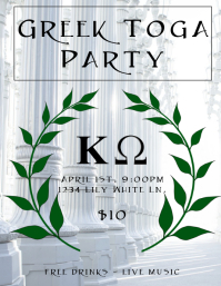 Greek Toga Party Flyer