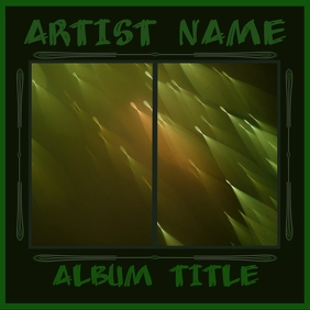 GREEN ACCENT ALBUM COVER template