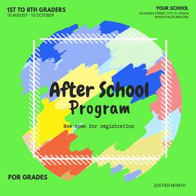 Green After School Program Advert