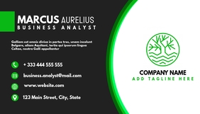 green and black business card Carte de visite template