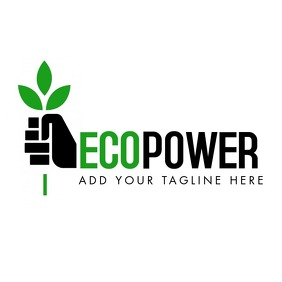 green and black environment logo template