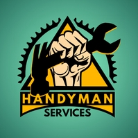 Green and Black Handyman Wrench Logo Template Logotipo