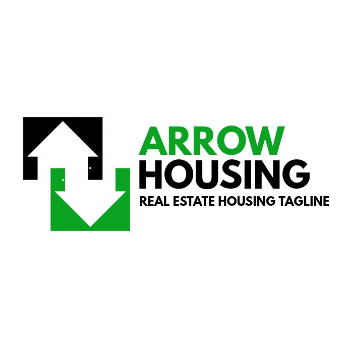 green and black real estate housing logo template