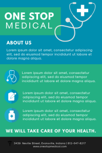 Green and Blue Pharmacy Advertising Flyer