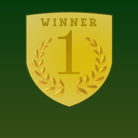 Green and Gold Winner 1 Poster
