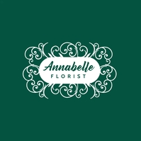 green and white colors logo template design