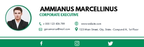 green and white corporate executive digital e Isihloko Se-imeyili template