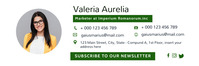green and white facebook email signature temp template