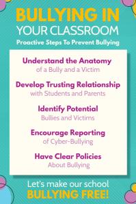 green anti bullying class poster