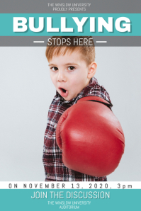 Green Anti Bullying Poster Template