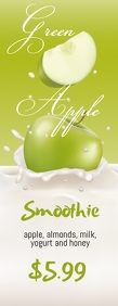 Green Apple Smoothie Halfbladsy Brief template