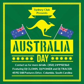 Green Australia Day Invite Template