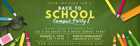 Green Back to School Bash Banner template