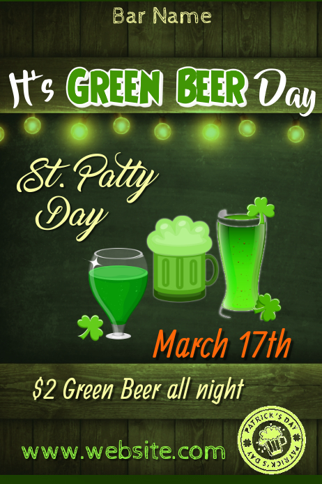 Green Beer Day Poster