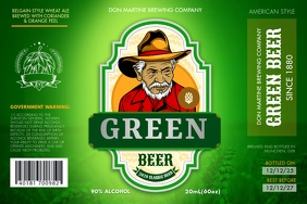 Green Beer Label Ilebula template