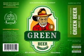 Green Beer Label ป้าย template