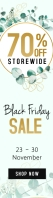Green Black Friday sale web ad Szeroki transparent pionowy template