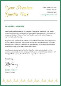 Green Border Modern Letterhead