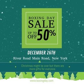 Green Boxing Day Sale Square Video