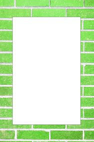 Green Brick Party Prop Frame