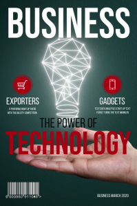 Green business magazine cover