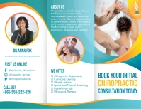 Green Chiropractic Service Tri-fold Brochure Pamflet (Letter AS) template