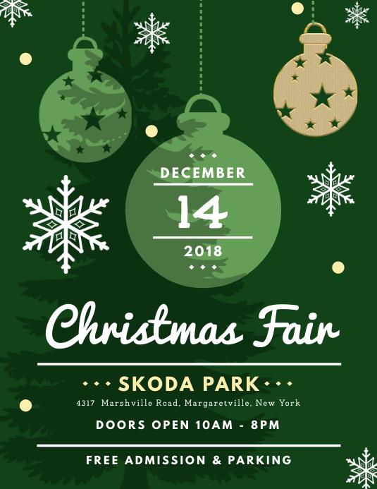 Green Christmas Fair Advertisement Flyer