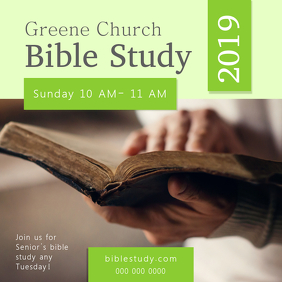 Green Church Bible Study Class Instagram Image