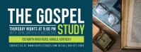 Green Church Event Bible Study Banner Portada de Facebook template