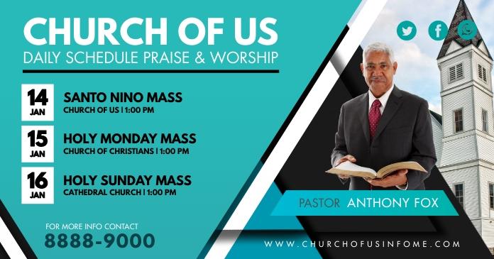 Green Church Mass Schedule Facebook Shared Po template