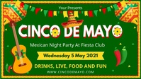 Green Cinco de Mayo Party Invitation Digital template