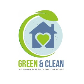 Green Cleaning Professionals Logo Логотип template
