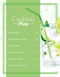 Green Cocktail Menu