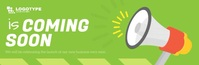 Green Coming Soon Animated Email Header Intestazione e-mail template