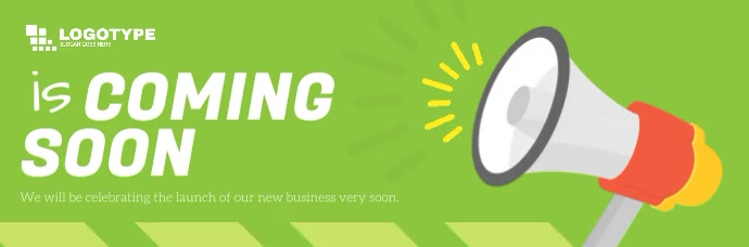 Green Coming Soon Animated Email Header 电子邮件标题 template