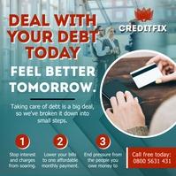 Green Credit Repair Business Instagram Post T template