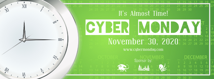 Green Cyber Monday Facebook Cover Photo