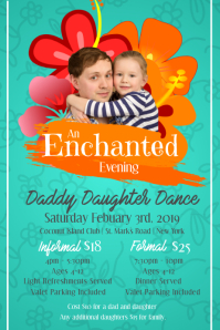 Green Daddy Daughter Dance Poster