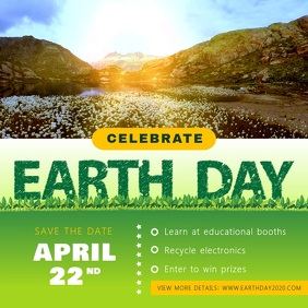 Green Earth Day Awareness Campaign Square Vid