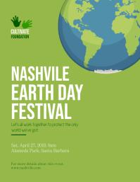 Green Earth Day Festival Flyer