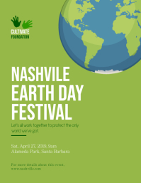 Green Earth Day Festival Flyer