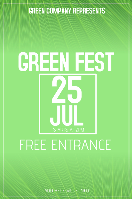 green eco fest event poster template