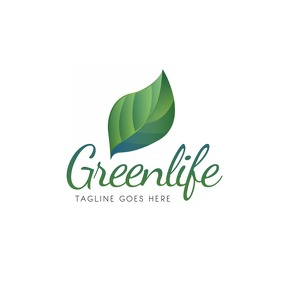 Green eco logo design free template