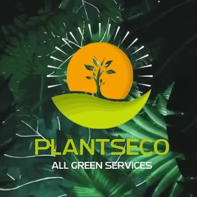 GREEN ECO PLANT AGRICULTURE LOGO SOCIAL MEDIA template