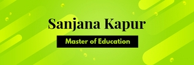 Green Educator and School Linkedin Banner Ibhana le-LinkedIn template