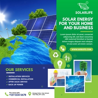 Green Energy Flyer   Solar Energy Instagram Post template