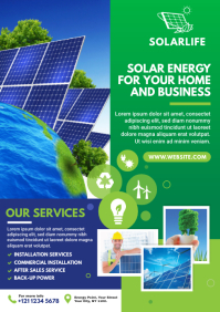 Green Energy Flyer | Solar Energy Flyer A4 template
