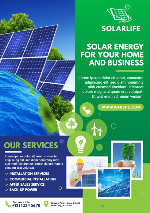Green Energy Flyer | Solar Energy Flyer