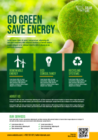 Green Energy Flyer | Solar Energy Flyer Template