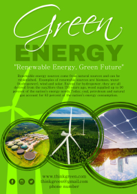 Green Energy Poster A4 template